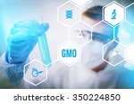 gmo or genetically modified...   Shutterstock . vector #350224850