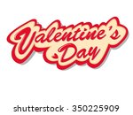 pretty red tag says valentine's ... | Shutterstock .eps vector #350225909