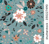 seamless pattern with doodle... | Shutterstock .eps vector #350227490