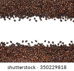 coffee beans isolated on white... | Shutterstock . vector #350229818