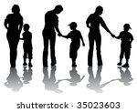 image of mother and son.... | Shutterstock . vector #35023603