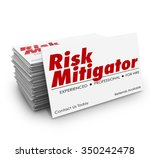 risk mitigator words on... | Shutterstock . vector #350242478