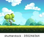 seamless background trees and... | Shutterstock .eps vector #350246564