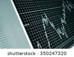 stock diagram on the screen | Shutterstock . vector #350247320