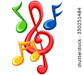 illustration of colorful music... | Shutterstock .eps vector #350251484