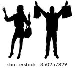 fashionable couple with... | Shutterstock .eps vector #350257829