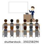business seminar   Shutterstock .eps vector #350258294