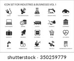 business icons and symbols of... | Shutterstock .eps vector #350259779