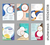 abstract colored brochure... | Shutterstock .eps vector #350263538