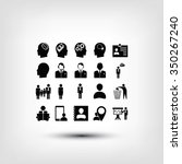 business man icons   Shutterstock .eps vector #350267240