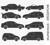 set of passenger cars  vector... | Shutterstock .eps vector #350269148