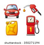 red car  gasoline pump nozzle...