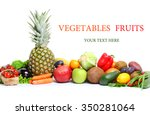 fresh vegetables fruits... | Shutterstock . vector #350281064