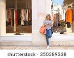beautiful teenager young woman...   Shutterstock . vector #350289338