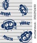 sketchy cute monster mascot... | Shutterstock .eps vector #350292650