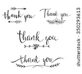 thank you  collection of labels.... | Shutterstock .eps vector #350293613