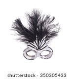 feathered mardi gras mask | Shutterstock . vector #350305433
