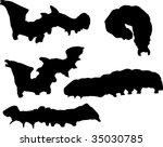 illustration with caterpillar... | Shutterstock .eps vector #35030785