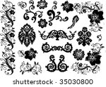 floral elements collection... | Shutterstock .eps vector #35030800
