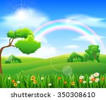 nature background with green... | Shutterstock . vector #350308610
