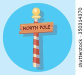 northpole sign circle flat icon | Shutterstock .eps vector #350314370