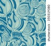 grunge feather retro background ... | Shutterstock .eps vector #350319380