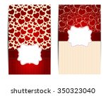 vintage card with  frame vector ... | Shutterstock .eps vector #350323040