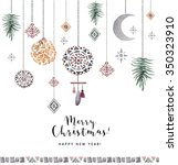 ethnic christmas card | Shutterstock . vector #350323910