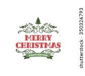 merry christmas label  ... | Shutterstock .eps vector #350326793