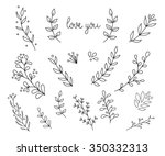 flourish swirl ornate... | Shutterstock .eps vector #350332313