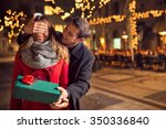 romantic surprise for... | Shutterstock . vector #350336840