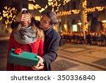 romantic surprise for... | Shutterstock . vector #350336840