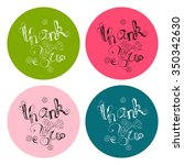 thank you card collection.... | Shutterstock .eps vector #350342630