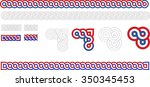 historic croatian traditional... | Shutterstock .eps vector #350345453