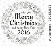 christmas greeting card with... | Shutterstock . vector #350353838