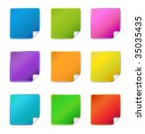 blank sticker icons | Shutterstock .eps vector #35035435