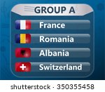 european soccer cup   group a | Shutterstock .eps vector #350355458