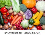 close up of various fresh... | Shutterstock . vector #350355734