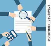 preparation business contract.   Shutterstock . vector #350359826