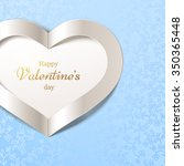 blue happy valentine's day... | Shutterstock .eps vector #350365448