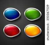 set of vector shiny glossy... | Shutterstock .eps vector #350367539