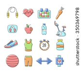 set of outline stroke fitness