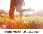 male and female legs during a... | Shutterstock . vector #350369900