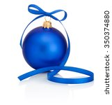 Blue Christmas Bauble With...