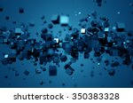 abstract 3d rendering of... | Shutterstock . vector #350383328