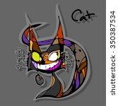 full color decorative vector... | Shutterstock .eps vector #350387534