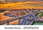 porto with dom luis bridge  ...   Shutterstock . vector #350396054