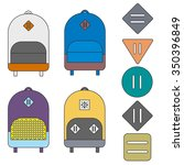 four flat colorful backpacks... | Shutterstock . vector #350396849