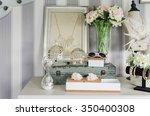 women's accesories on white... | Shutterstock . vector #350400308