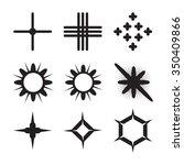 star icons set. sparkle vector. ...   Shutterstock .eps vector #350409866